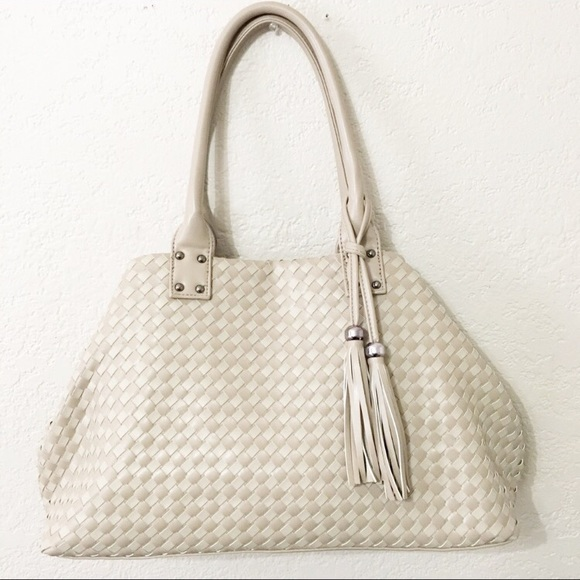 d2fd7b571bc1 David Jones Bags | Paris Nude Woven Handbag | Poshmark